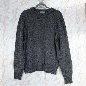 Vintage lifestyle L gray sweater 100% virgin wool